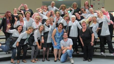 Geelong Harmony preparing for the 2018 Sweet Adeines Australia Convention with Lynda Keever and Alex Morris